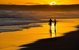 A Romantic Walk On The Beach