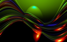 Abstract Green And Red