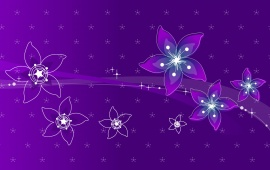 Abstract Violet Flowers Design