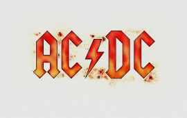 AC DC White Background