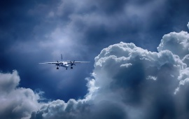 Aircraft In Sky Cloud