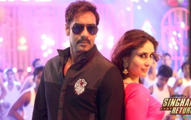 Ajay Devgan And Kareena Kapoor In Singham Returns