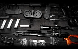 AK47 And Dragunov Weapons