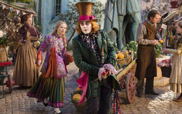 Alice Through The Looking Glass Johnny Depp Mia Wasikowska (click to view)