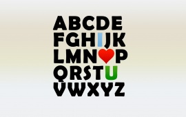 Alphabet Heart Love