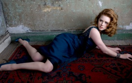 Amy Adams in Blue Dress