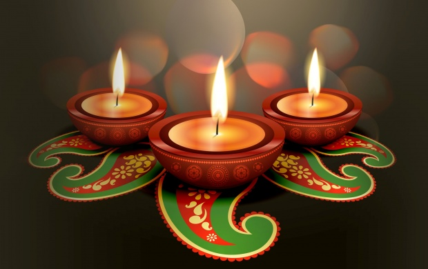 Animated Clay Lamps Diwali (click to view)