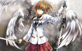 Anime Angel With Sword