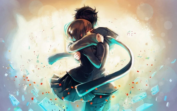 Boy And Girl Love Animation Wallpaper Anime Girl Boy Hug Love