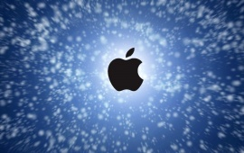 Apple In The Blue Sky