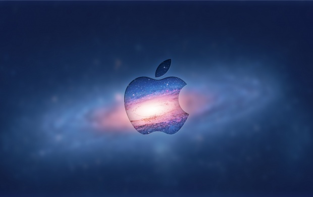 Apple Logo In Galaxy (click to view)
