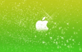 Apple Logo In Green