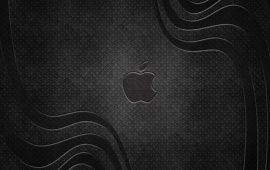 Apple Metal Gray Logo