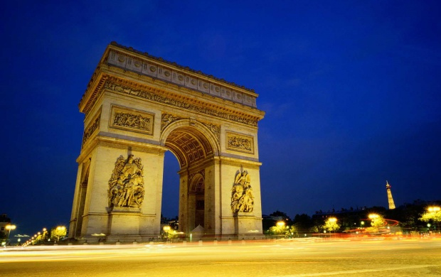 Arc De Triomphe At Night (click to view)