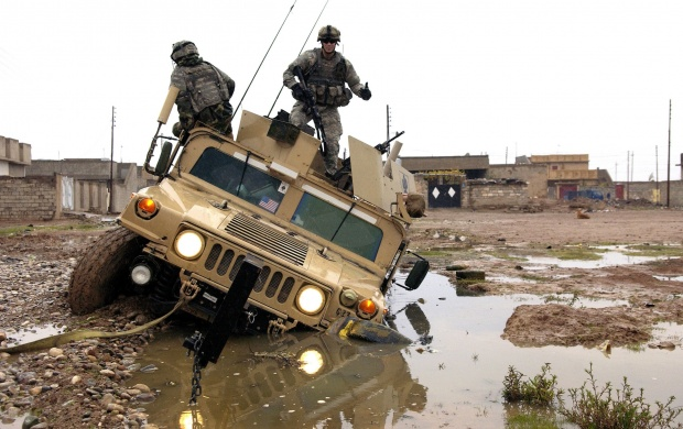 Army Stuck In The Mud (click to view)