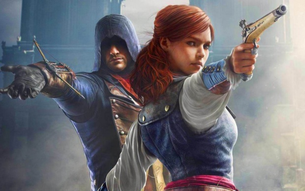 Arno And Elise Assassin S Creed Unity Art Wallpapers