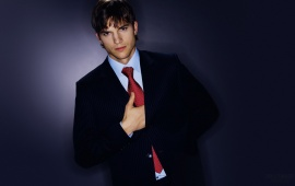 Ashton Kutcher Wearing Suite