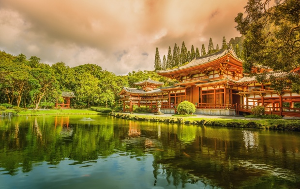 Asian Temple And Lake (click to view)