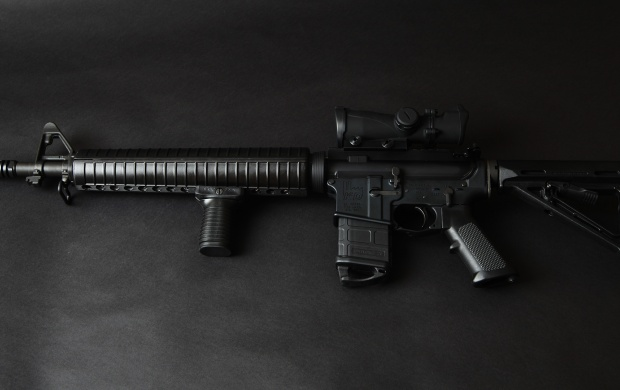 Assault Rifle Black Background (click to view)