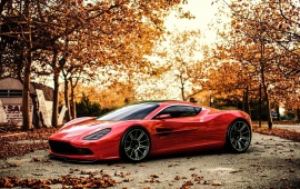 Aston Martin DBC Car Autumn