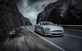 Aston Martin DBS On Highway