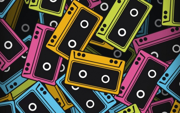 Audio Cassette Color Vector (click to view)