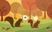 Autumn Squirrels October 2012 Calendar