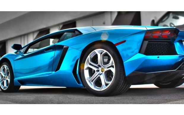 Azure Blue Lamborghini Aventador Wallpapers