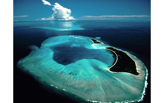 Azure Island Seen From Above (click to view)