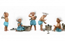 Babies In Kitchen