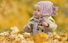 Baby In Autumn Leaves (click to view)