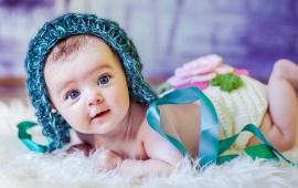 Baby In Funny Knitted Hat