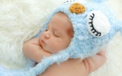 Baby Sleeping Hat Blue