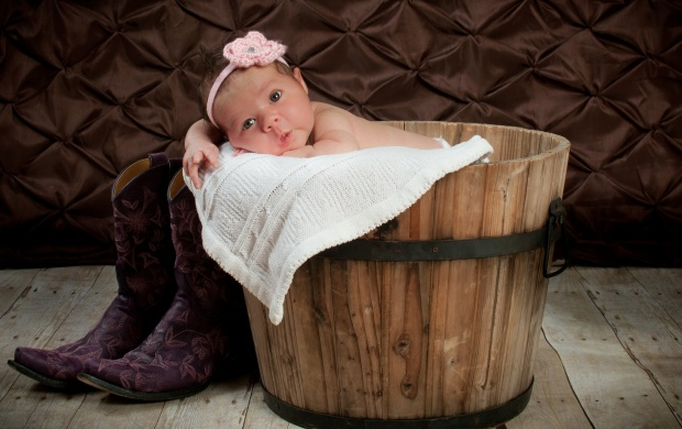 Baby With Blanket Barrel (click to view)