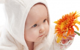 Baby With Flower (click to view)