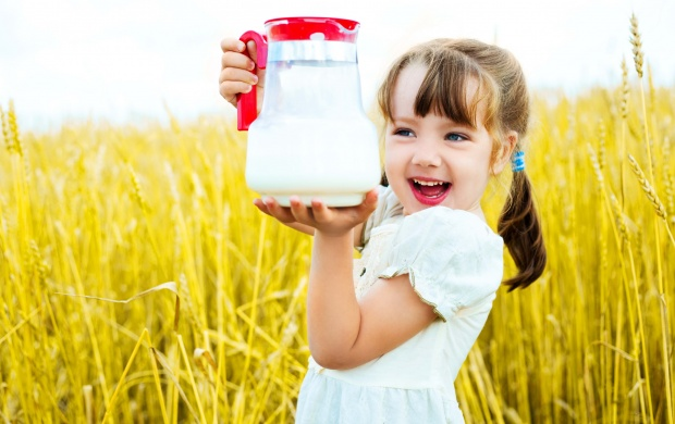 Baby With Holding A Jug (click to view)