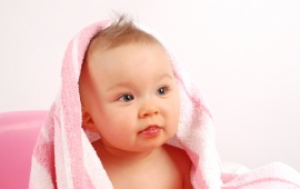 Baby With Pink Towel (click to view)