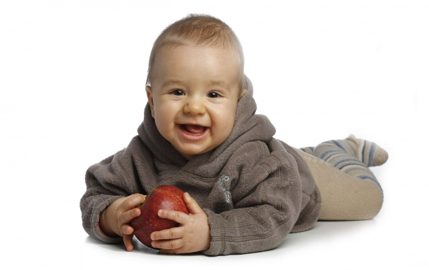 Baby With Red Apple (click to view)