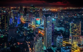 Bangkok Thailand Night City