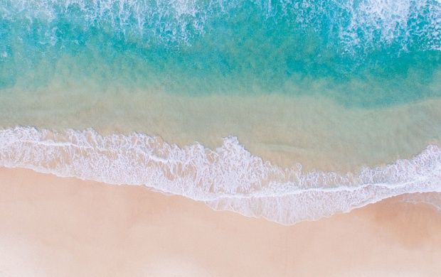 Beach and Sea Water Seen From Above (click to view)