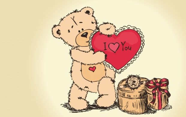 Bear And Valentines Day Gift (click to view)