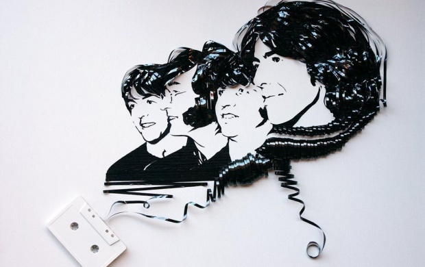 Beatles Cassette Tape Art (click to view)