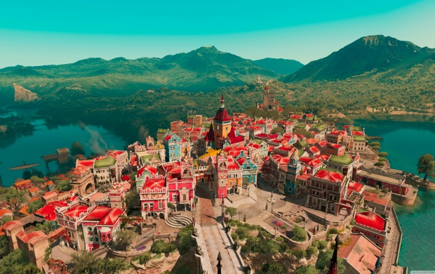 Beauclair from Above (click to view)