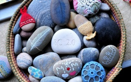 Beautiful Basket Of Stones