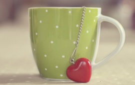 Beautiful Cup And Red Heart