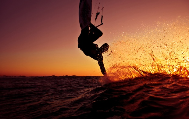 Beautiful Evening Surfing (click to view)
