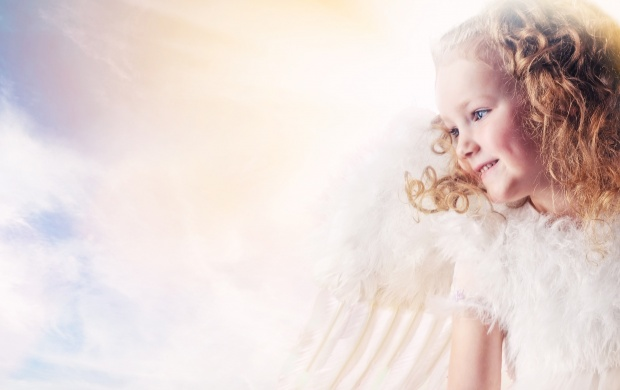 Beautiful Little Angel Girl (click to view)