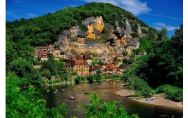 Beautiful Village On A Rock