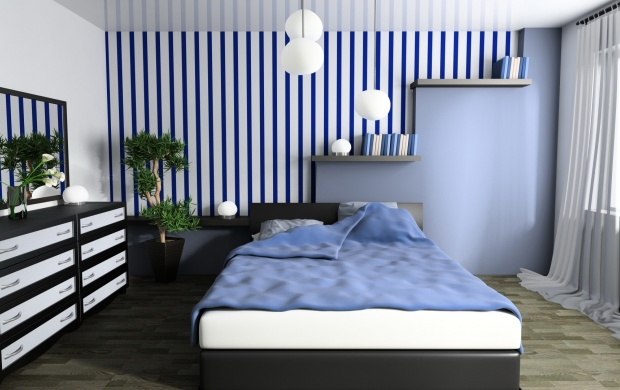 Bedroom Interior Design Blue (click to view)