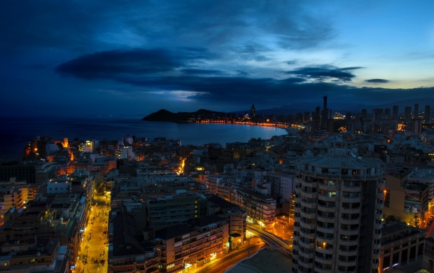 Benidorm Spain City Night (click to view)